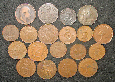 LOT OF OLD FOREIGN COINS! 1800s + 1900s! VINTAGE WORLD COIN LOT! (g979)