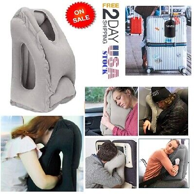 Portable Memory Foam Travel Neck Support Pillow AirPlane Soft Cushion Sleep Mask