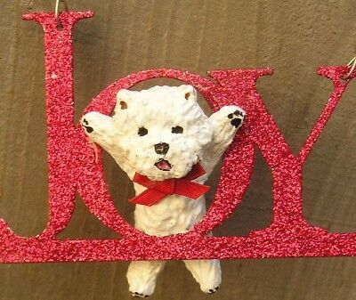 West Highland White Terrier -WESTIE- Glitter JOY Ornament!