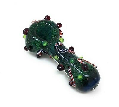 Smoking Tobacco Glass Pipe made in the USA by TwinsGlass Xmaspipe free shipping!