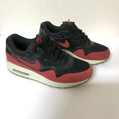 a42f31f2af Nike Air Max 1 Essential Womens 8.5 599820-018 Black Red Gum Running Shoes  Bred