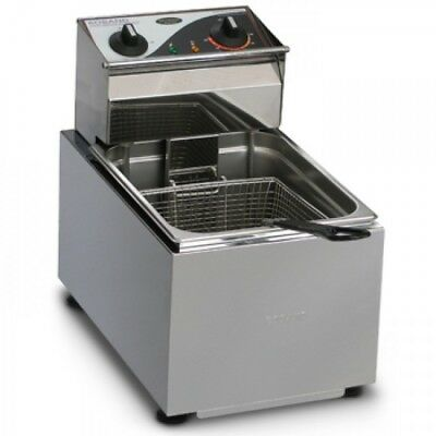 Roband Single Pan 8L 1 Basket Counter Top Commercial Deep Fryer F18