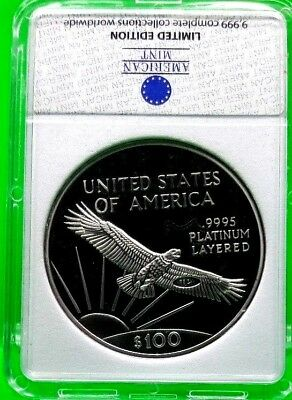 1997 $100 Platinum Eagle Archival Edition Coin Proof