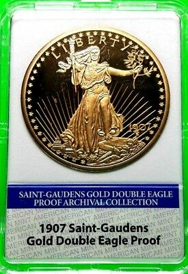 1907 Saint Gaudens Gold Double Eagle Proof Archival Edition Coin Proof