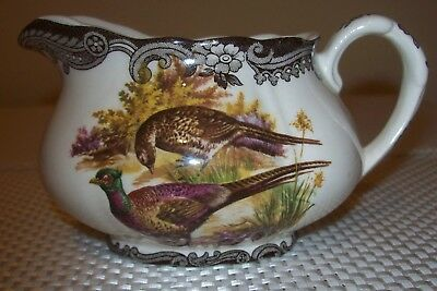 Royal Worcester Palissy Game Series Pheasant Creamer Milk Jug (W109)