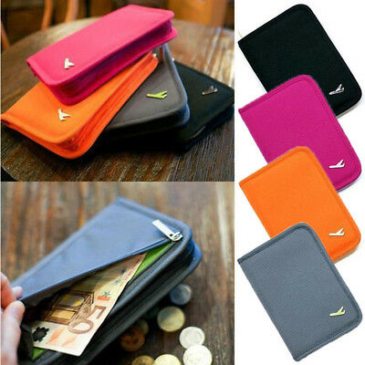 Travel ID Card Passport Holder Ticket Document Protector Cover Case Bag Wallet