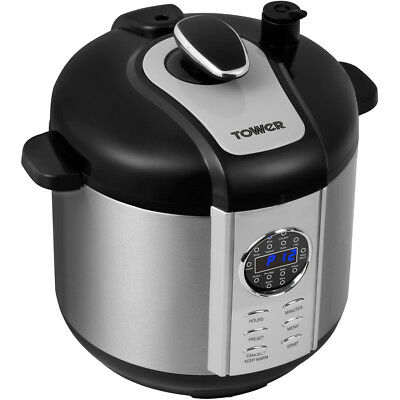Tower T16005 Slow Cooker Free Standing Stainless Steel