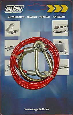 Maypole Break-Away Cable  - MP498 CARAVAN AND TRAILER TOWING BRAKE CABLE