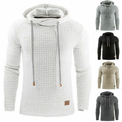 Mens Fashion Winter Hoodie Warm Hooded Sweatshirt Sweater Coat Jacket Outwear US