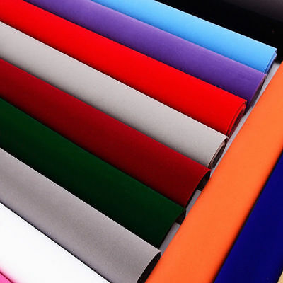 Sticky Back Self Adhesive Sheet Felt Velvet Velour Fabric Craft Sticker 14x20cm