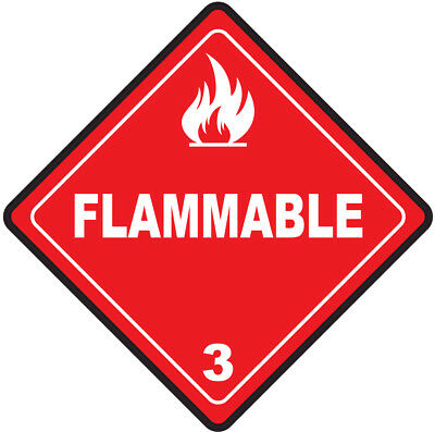 45-200mm Hazard Warning Stickers Flammable Sign Safety COSHH HACCP Hazchem