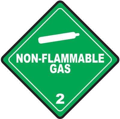 45-200mm Hazard Warning Stickers Non-Flammable Gas Sign COSHH HACCP Hazchem