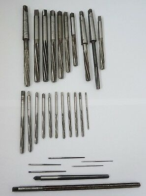 28 Various Reamers 25 off Hand 3 off M/C, Imperial, Metric & Taper, MYFORD Lathe