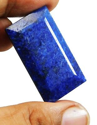 97.00Ct. Natural Emerald Cut Pendant Size African Blue Sapphire Loose Gemstone