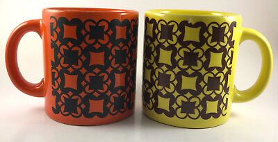 2 Vintage Hard To Find Waechtersbach Mugs Abstract Design West Germany