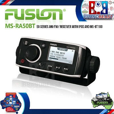 Fusion Ms-ra50bt 50 Series Am Fm Receiver With Ipod And Ms-bt100