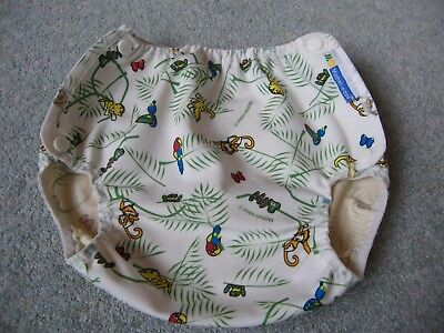 motherease large nappy wrap in rainforest pattern
