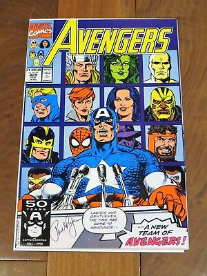 Avengers (1963 1st Series) #329 Signed By PAUL RYAN Bag and Boarded NEW MOVIE