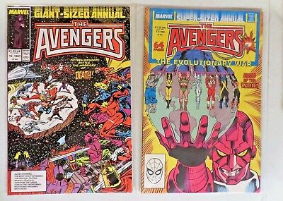 The Avengers Lot of 2 Annuals #16 & #17 (1987, Marvel) Giant Sized Comics