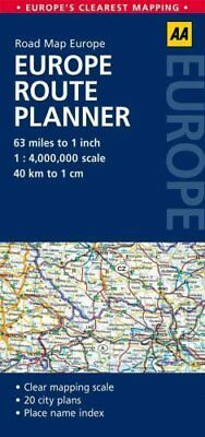 Europe Route Planner AA Road Map Europe by AA Publishing 9780749575380
