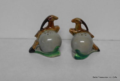 Antique Thanes Ceramic Gazzelle Impala Salt & Pepper Shakers