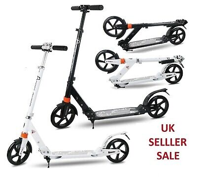 Folding Scooter Bike Big Wheel Scooter W/ Suspension Adult Commuter With Grips B