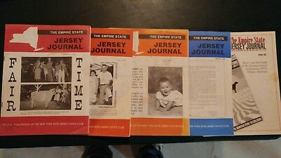 (5) 1993-1996 Empire State Jersey Journal Dairy Cattle Issues
