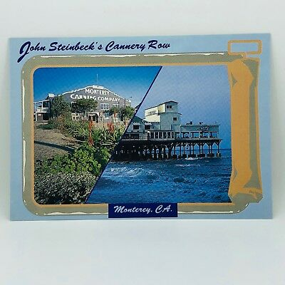 Postcard California John Steinbeck's Cannery Row Monterey CA 4x6 - Unused C-39o