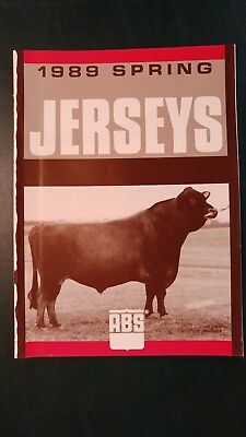 """1989 American Breeders Service  Jersey Dairy Cattle Sire Directory-  """"top Brass"""""""