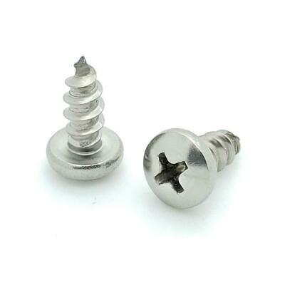 """Fifty (50) #10 x 1/2"""" 304 Stainless Steel Phillips Pan Head Wood Screws (BCP612)"""