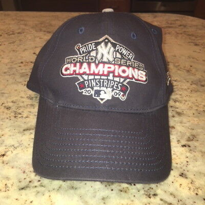 31667f09382 New York Yankees 2009 World Series Champs New Era Fitted Hat Medium-Large