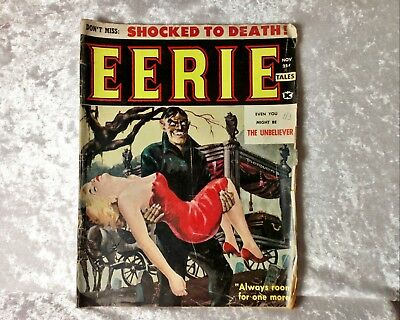 Eerie Tales Vol 1 No 1- Very Rare American Horror Comic 1959 vintage 1st Issue!