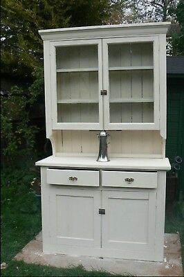 Large Welsh Dresser Painted Pine Victorian Late 19th Century