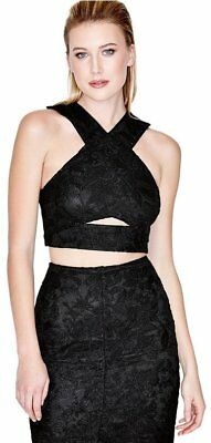 8c4da5e69d4 NWT GUESS By Marciano Antoinette Black Lace Crop Top Size 6, S