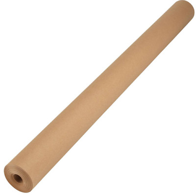 Christmas XL Kraft Wrapping Packaging Paper Rolled 750mm x 25m Brown