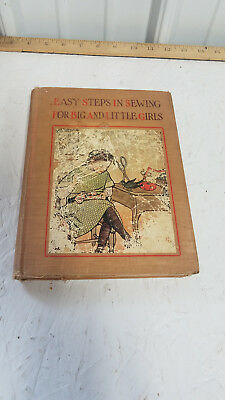 Antique Book EASY STEPS IN SEWING FOR BIG & LITTLE GIRLS by JANE FRYER 1913