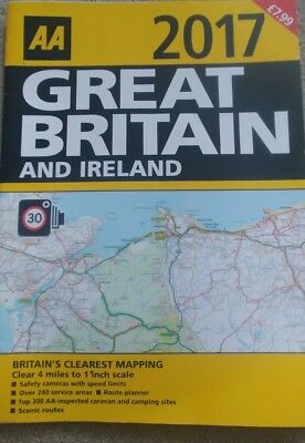 AA Road Map 2017 Great Britain And Ireland