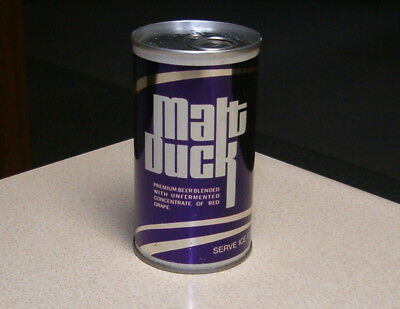 """""""minty"""" Malt Duck Pull Tab Beer Can National Brg. Co. Baltimore Md."""
