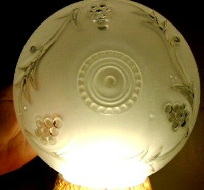 Vintage Frosted Clear Grapes Glass Lamp Globes Shade Ceiling Fixture Light