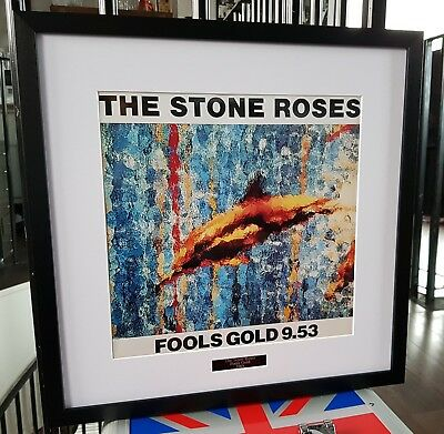 The Stone Roses Framed Fools Gold Print-Ian Brown-Oasis
