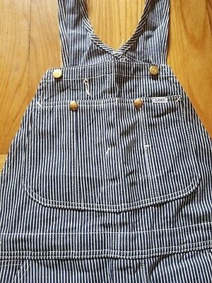 Vintage Lee Overalls Hickory Stripe 36x32 Excellent condition Made in USA