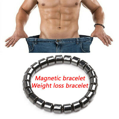 Magnetic Healthcare Bracelet Weight Loss Healthy Therapy Hematite Stone Beads SU
