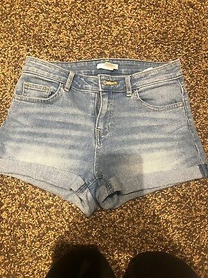 H&M Denim Shorts Light Blue Size 8 Hotpants