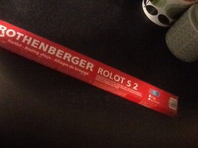 """* Rothenberger Rolot S2 Copper to Copper Soldering Brazing Rods 1kg Z7 12""""17"""