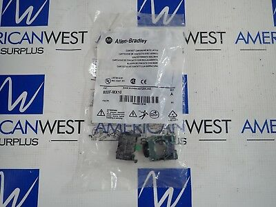 800F-MX10 NEW Allen Bradley Contact Cartridge with Latch NEW in Bag