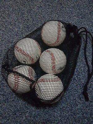Bag of 5 new baseballs (4x Rawlings official league and 1x Baden BBF)