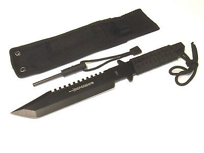 """DEFENDER 1740 Combat Tanto fixed blade knife / fire starter 11 1/4"""" overall NEW!"""