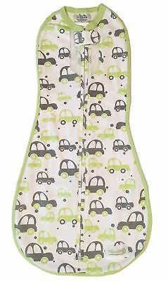Woombie Air Swaddle (Newborn to 3 Months, Lil Cars Green))