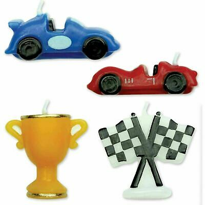 Racing Cars Candles Set/4 / Cake Decorating / Cake Topper / Candle / Party