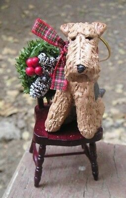 Airedale Terrier CHAIR Ornament!